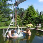 Montage Wasserspiel Teich