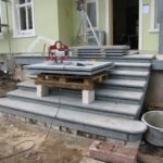 Treppenanlage aus Granit Gründerhaus Firma Claas Harsewinkel
