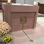 Altar aus Mainsandstein St. Joh. Enthauptung Suttrop