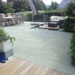 Terrasse aus Anröchter Grünsandstein